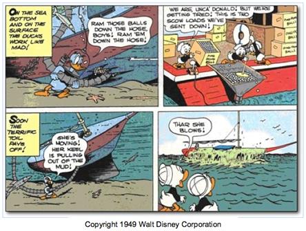 Donald Duck zit ook wel eens een patent dwars