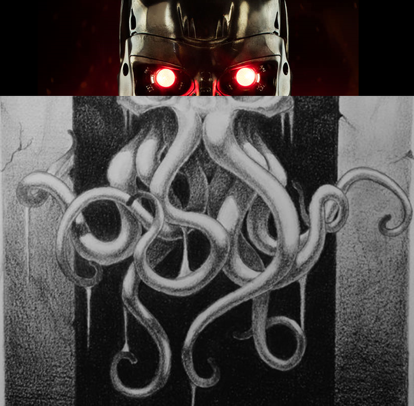 Unholy merger of Terminator and Cthulu