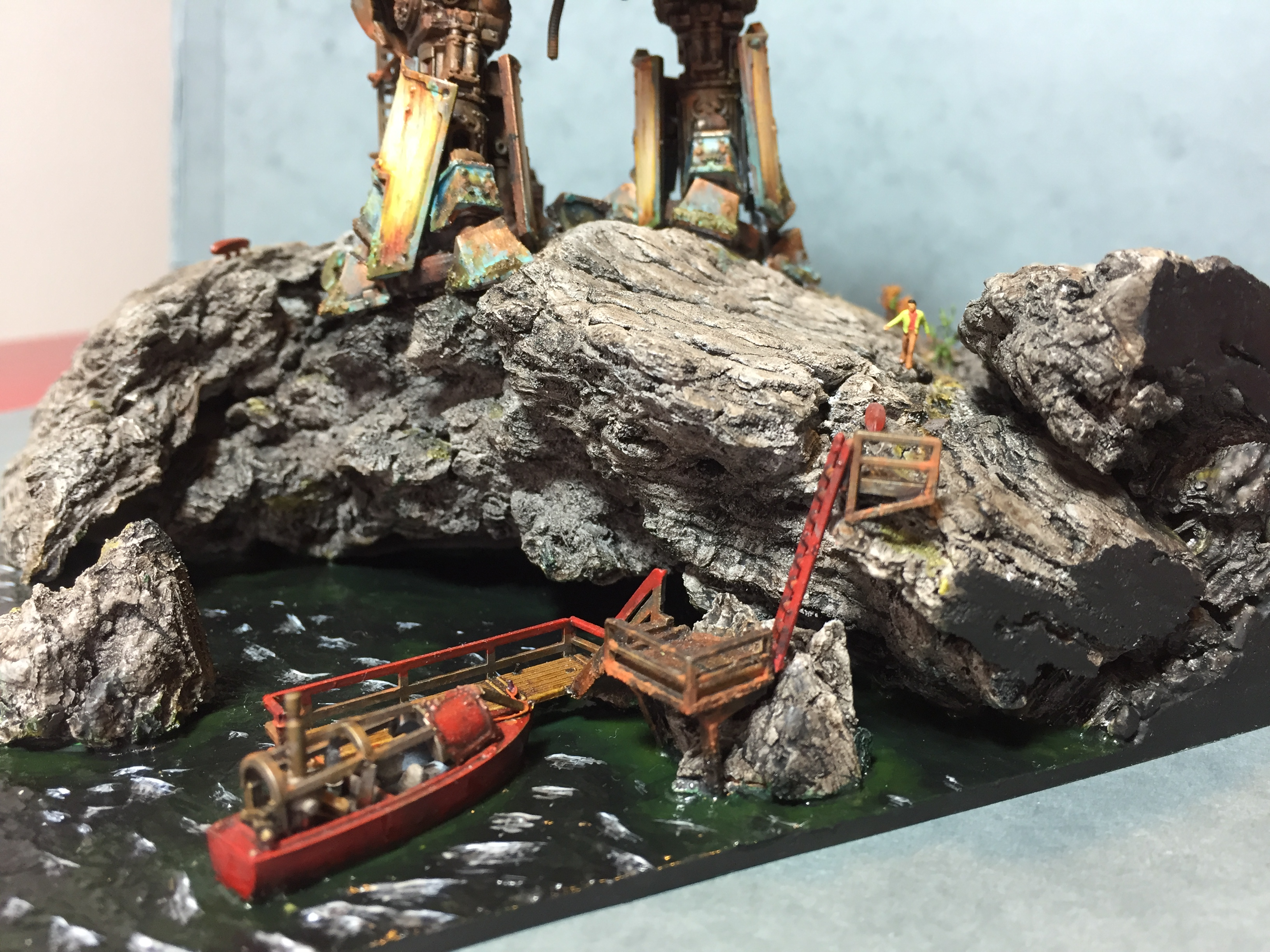 The Lighthouse - Warhammer 40k diorama of a Reaver Titan.