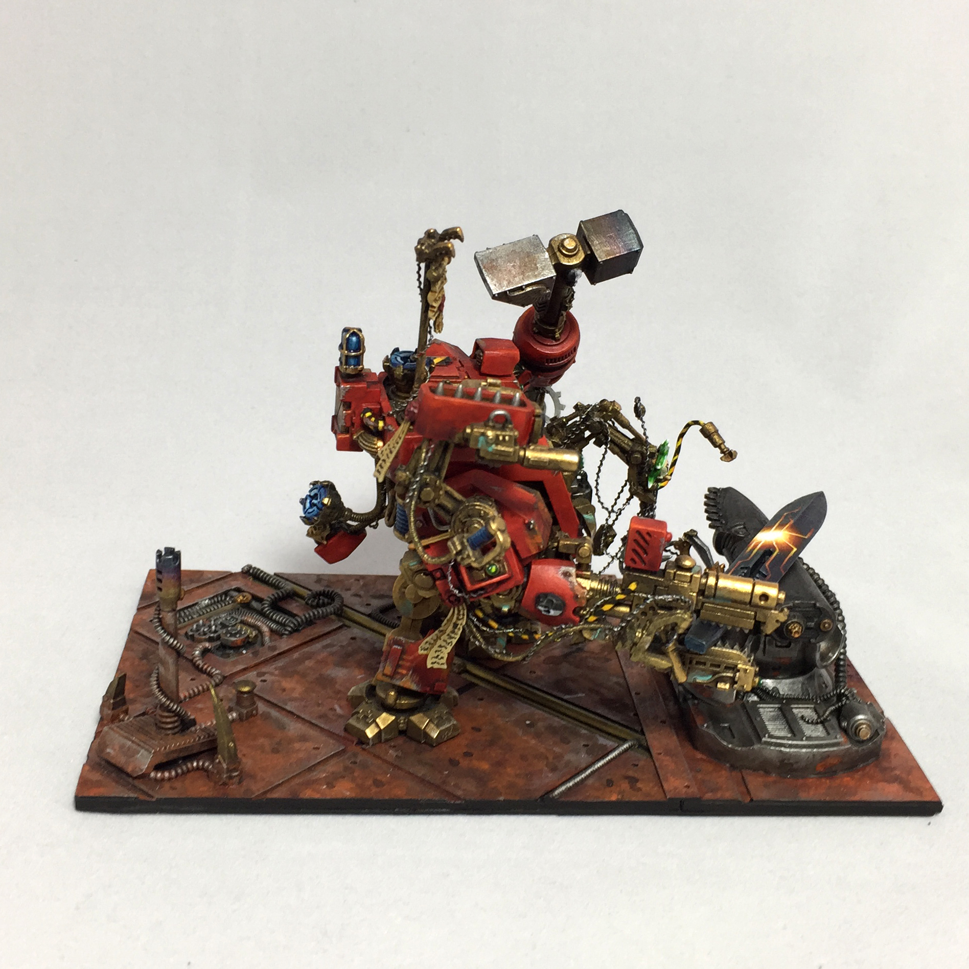 Hephaistos smith converted from a Blood Angel Dreadnought