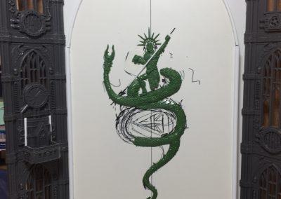 Door detailing in greenstuff