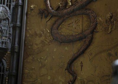 Cinematic shot of the door