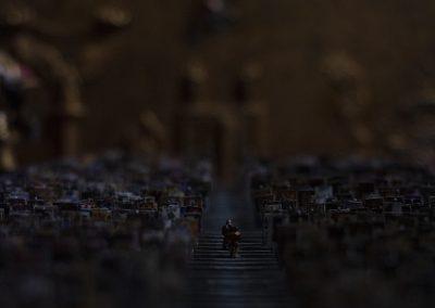 Cinematic shot in the dark